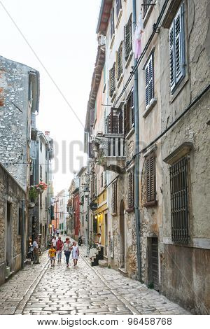 Tourists Sightseeing Rovinj