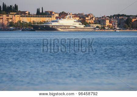 Yacht Anchored In Rovinj