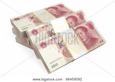 Packs Of Yuan Closeup
