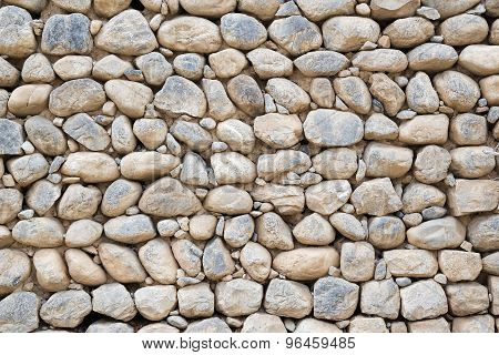 Wall With Pebbles