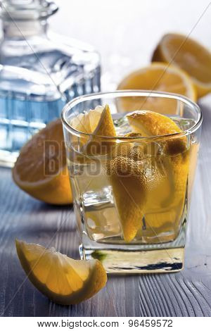 Drink With Lemon And Ice