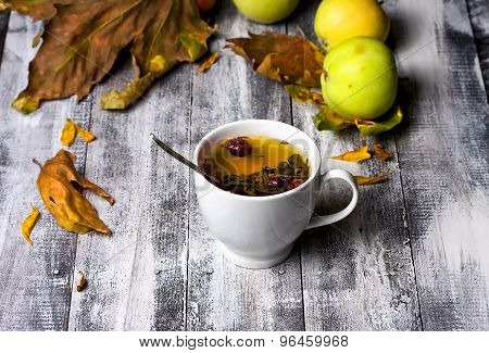 Cup Of Tea In The Fall