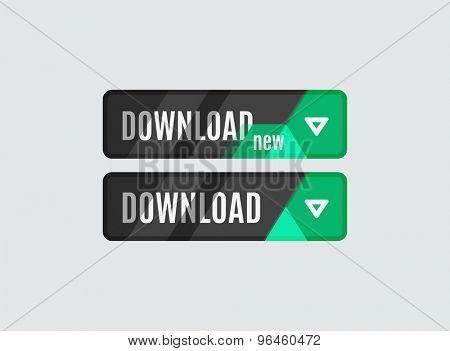 Download button, futuristic hi-tech UI design. Website, mobile applications icon, online design, business, gui or ui