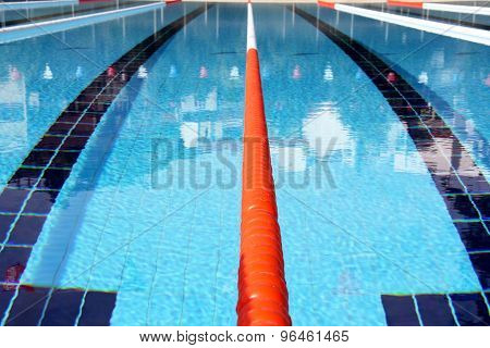 Swimming pool lanes.