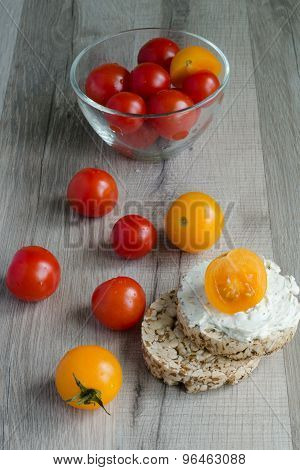 Cherry Tomatoes And Crisp Bread