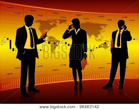 Silhouettes of business
