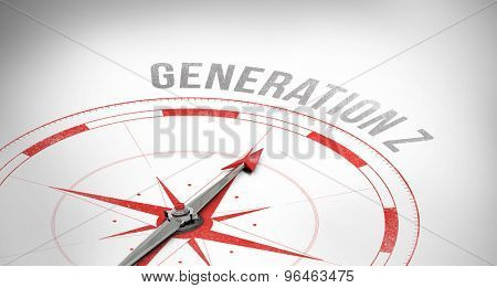 The word generation z against compass