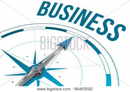 The word business against compass