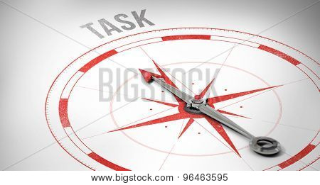 The word task against compass