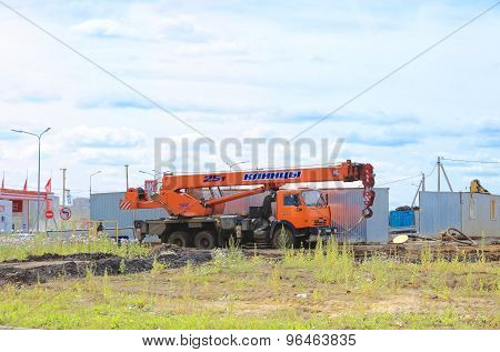 Kamaz mobile crane