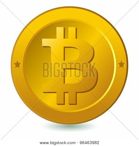Bitcoin isolated in white background