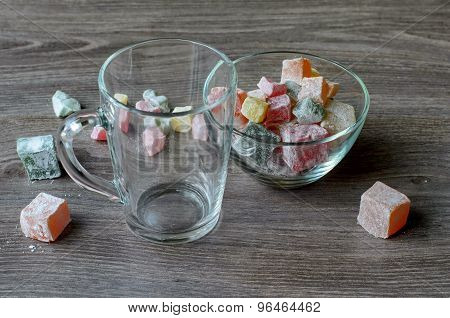 Empty Cup And Turkish Delight