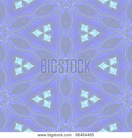 Seamless Abstract Blue Soft Floral Pattern For Background