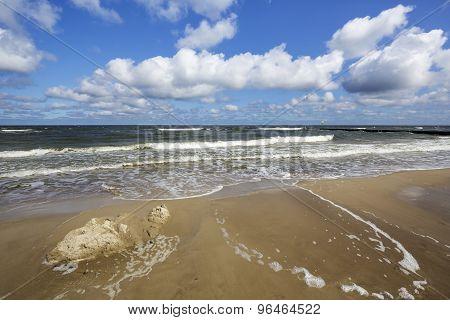 Baltic Sea In Kolobrzeg In Poland