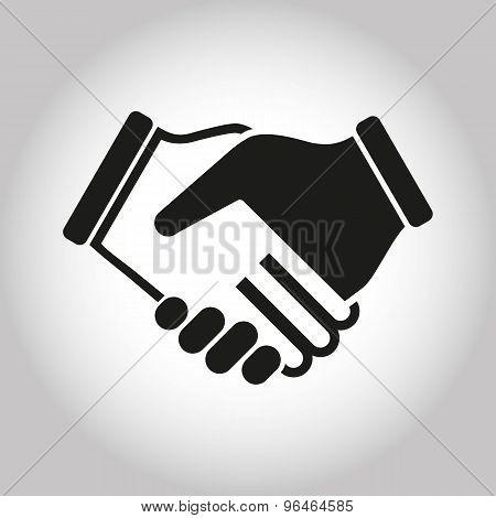 Illustration Icon Vector Shake Hands