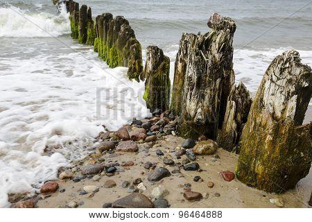 Very Old Wooden Breakwaters