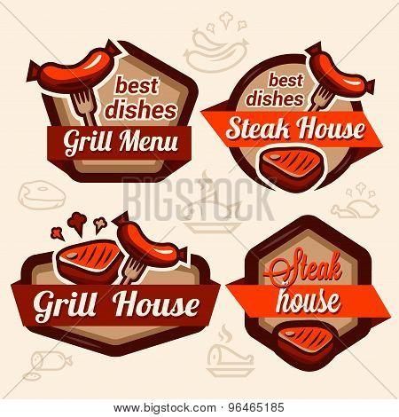 food logos set