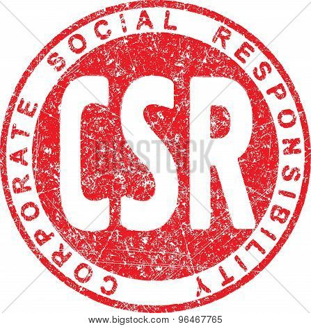 Csr. Corporate Social Responsibility Rubber Stamp