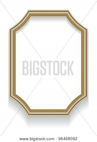 Photorealistic Vector Illustration Of An Octagonal Frame With Curved Elements And Shadow For Photos