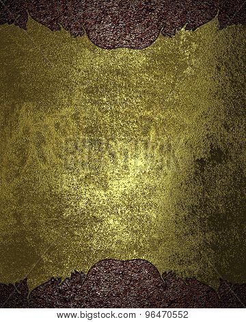 Grunge Metal Texture On Brown Background. Element For Design. Template For Design.