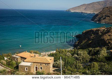 Seascape On Andros Island, Greece