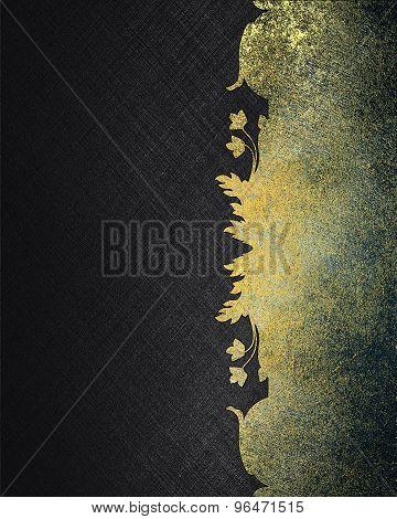 Grunge Black Background With Metal Pattern. Element For Design. Template For Design.