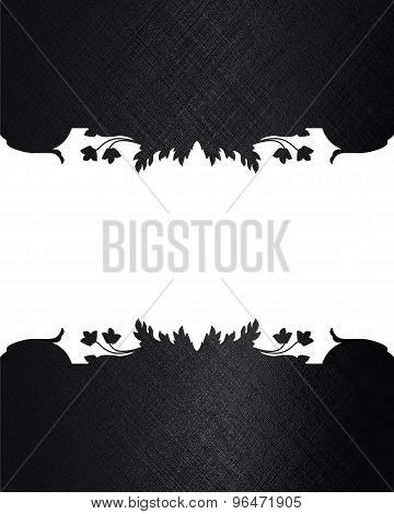 Black Texture With Patterned Cut. Element For Design. Template For Design.