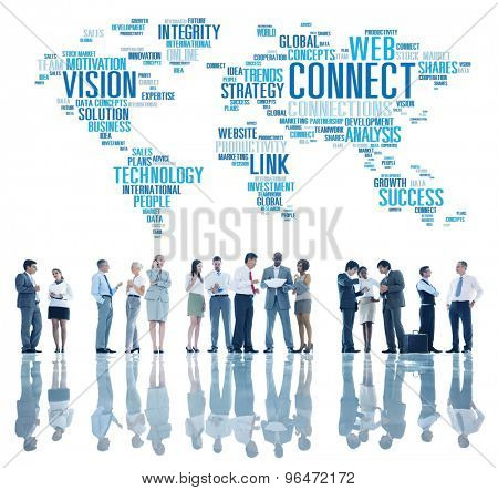 Connection Social Media Internet Link Networking Concept