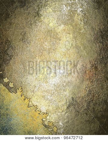 Grunge Metal Texture With An Antique Pattern. Element For Design. Template For Design.