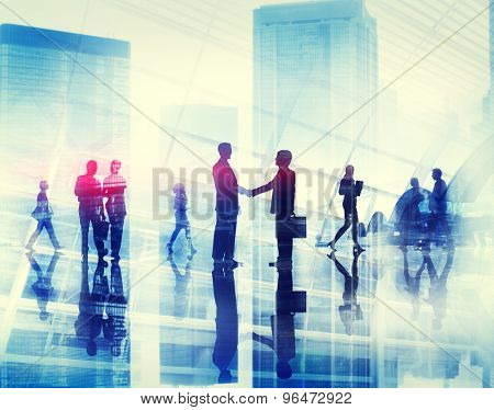 Business Negotiation Handshake Cooperate People Modern Concept