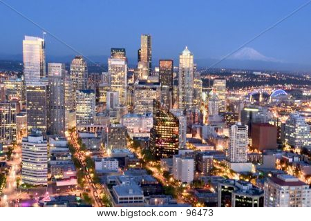 poster of Seattle City Lights