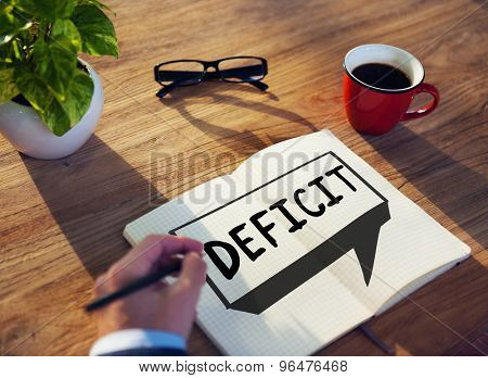 Deficit Risk Loss Deduct Recession Concept