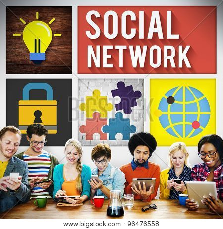 Social Network Global Communications Technology Connection Concept