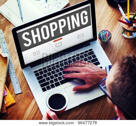 Shopping Retail Shopaholic Consumerism Market Concept