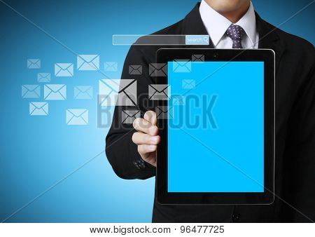 touch screen ,touch- tablet in hands