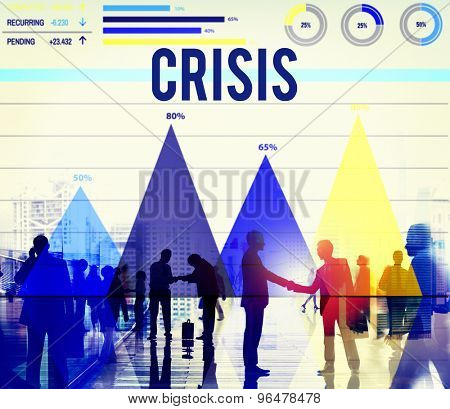 Crisis Global Economy Finance Recession Concept