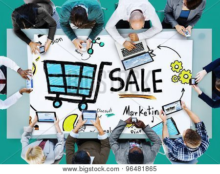 Sale Marketing Analysis Price Tag Branding Vision Share Concept