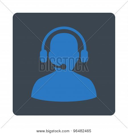 Telemarketing Icon from Commerce Buttons OverColor Set