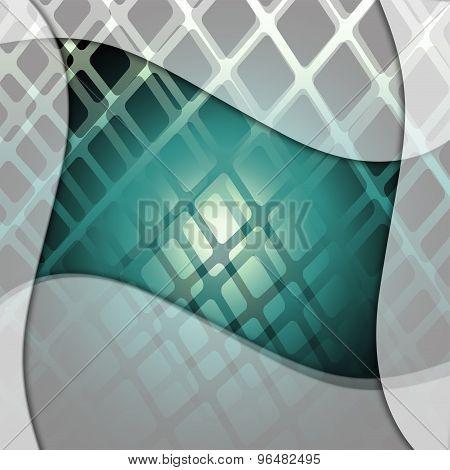 Dynamic blue grid background