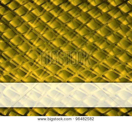 Grid golden background with place for text