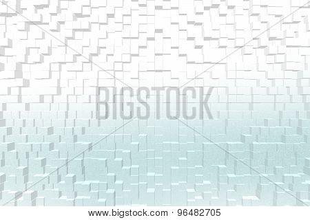 Frosted Glass Cyan Color, 3D Block Style