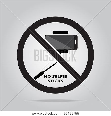 No Selfie Stick Sign.