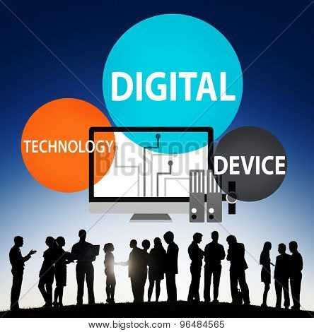 Digital Device Technology Internet Computer Connect Concept
