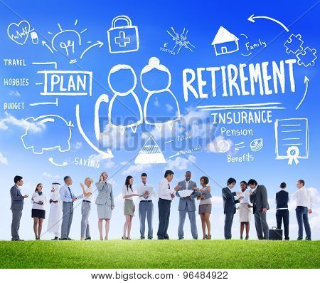 Business People Retirement Career Digital Communication Discussion Concept