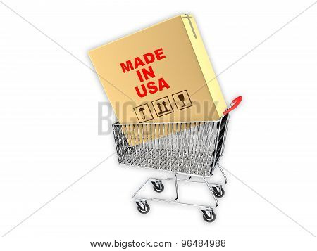 Cardboard Box With Made In Usa