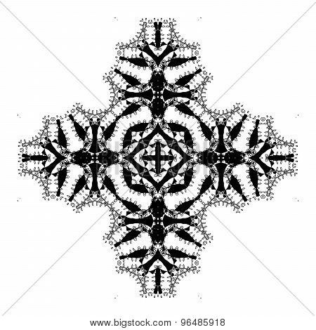 Vector Beautiful Deco Black Mandala.