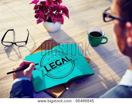 Legal Rules Laws Justice Ethical Concept
