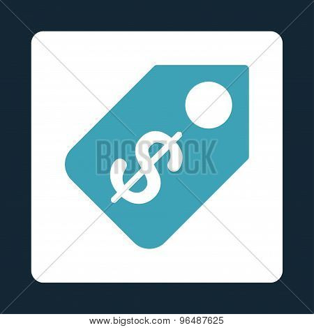 Price Tag Icon from Commerce Buttons OverColor Set