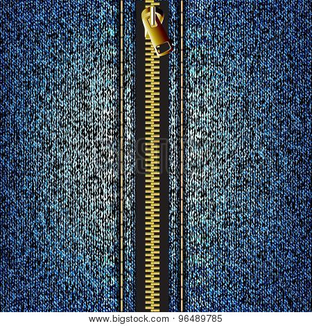 Denim Texture With Zipper