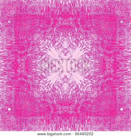 Pink abstract background with delicate grid pattern and lines.